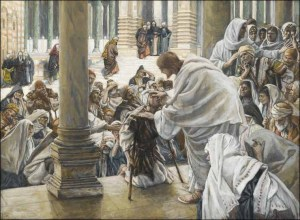 He Heals The Lame In The Temple by James Jacques Tissot